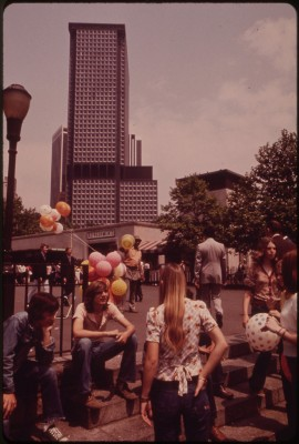 """In Battery Park, Lower Manhattan 05/1973 - Wil Blanche.'"