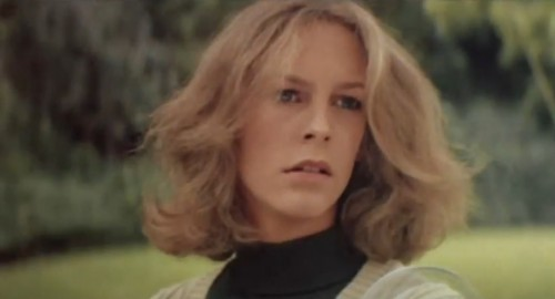 A 19-yr-old, Jamie Lee Curtis stars in 'Halloween,' 1978