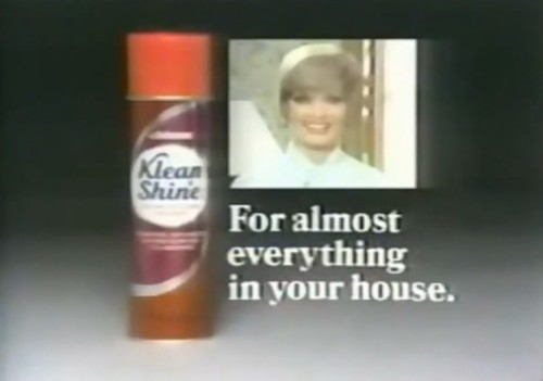 Alice told Carol about this, but Carol is taking full credit. (Klean n' Shine commercial, 1975)