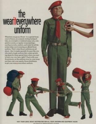 Daily 70s Ad: Green Boy Scout Uniform (1974) | Bionic Disco