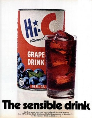Hi-C Grape Drink ('LIFE' magazine, Nov. 13, 1970)