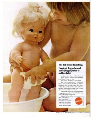 Mattel - Baby Tender Love Doll. ('LIFE' magazine, Nov.13, 1970)