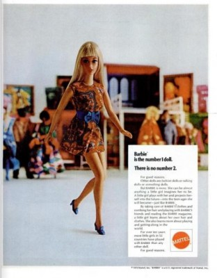 Mattel - Barbie. ('LIFE' magazine, Nov.13, 1970)