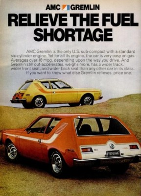 AMC Gremlin. ('Popular Science' magazine, April, 1974)