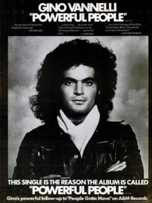 Gino Vannelli 'Powerful People.' ('Billboard' magazine, Feb. 22, 1975)