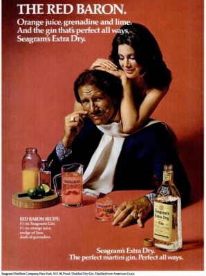 Seagram's Red Baron. ('New York' magazine, June 17, 1974)