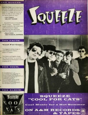 Squeeze 'Cool For Cats.' ('Billboard' magazine, July 14, 1979)