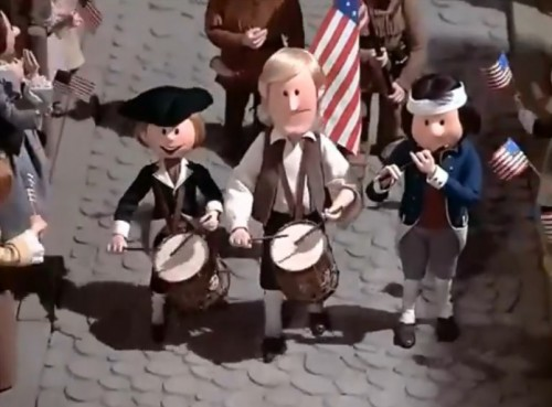 """""""There's a happy celebration in each town across the nation..."""" (Rankin/Bass, 1976)"""