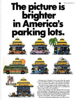 Fotomat 'America's Parking Lots.' ('LIFE' magazine, Sept. 03, 1971)