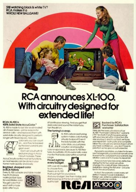daily 70s ad  rca xl