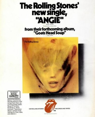The Rolling Stones 'Angie.' ('Billboard' magazine, September 08, 1973)