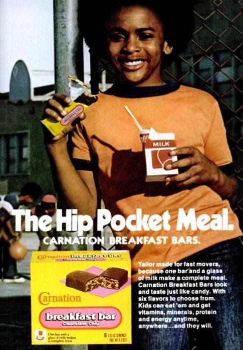 Carnation Breakfast Bars. ('Jet' magazine, October 23, 1975)