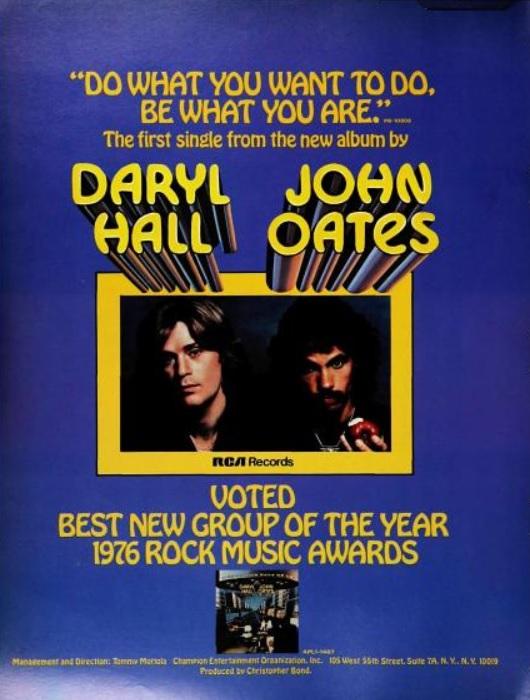 Hall & Oates, 'Best New Group.' ('Billboard' magazine, October 16, 1976)