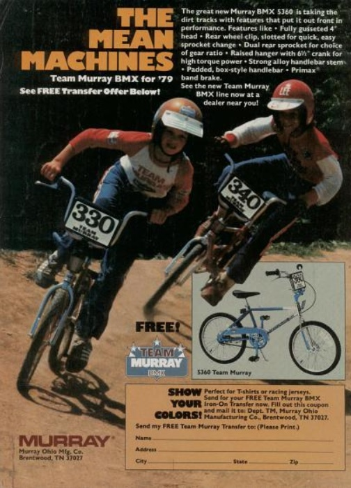 Daily 70s Ad Murray Bmx Bikes Mean Machines 1979 Bionic Disco