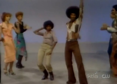 The assortment of outfits on display is truly cosmic. (War, 'Galaxy' on 'Soul Train,' 1977)