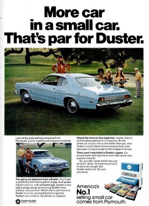 Daily 70s Ad Plymouth Duster America S No 1 1974