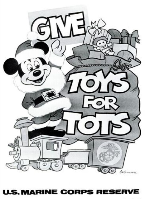 Black And White Toys For Tots : Daily s ad mickey mouse the marine corps ' toys for