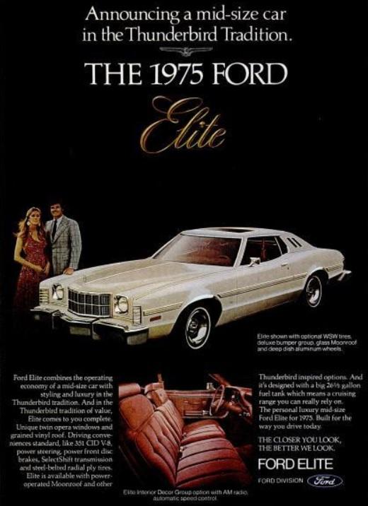 Daily 70s Ad '75 Ford Elite Thunderbird 1974 Bionic Discorhbionicdisco: 1974 Ford Thunderbird Radio At Gmaili.net