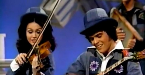 Not 'Yee Haw,' but an incredible simulation. ('Donny & Marie,' 1976)