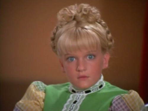 Television-itis! Give generously now, folks... (Susan Olsen, 'The Brady Bunch,' 1973)