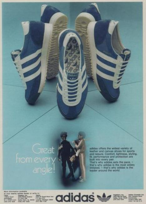 Rad Ads Adidas Sports Shoes 1976 Bionic Disco