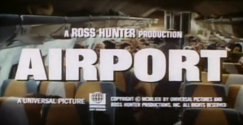 'Airport' trailer title, 1970