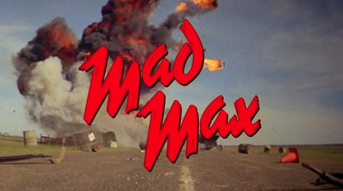 'Mad Max' trailer title, 1979.