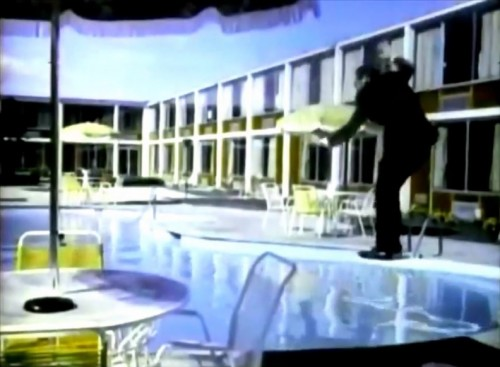The hotel manager may be a bit overzealous. (Holiday Inn commercial, 1970)