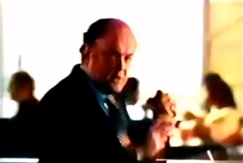 Arthur Carlson enjoying a Big Mac. (McDonald's commercial, 1974)