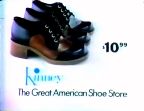 $10.99 for a great, American shoe. (Kinney commercial, 1974)