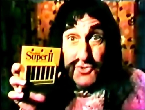 Who knew Genghis Khan was such an affable spokesperson? (Schick commercial, 1974)