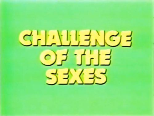 This is going to be good! ('Challenge of the Sexes' 1978 season coming soon).