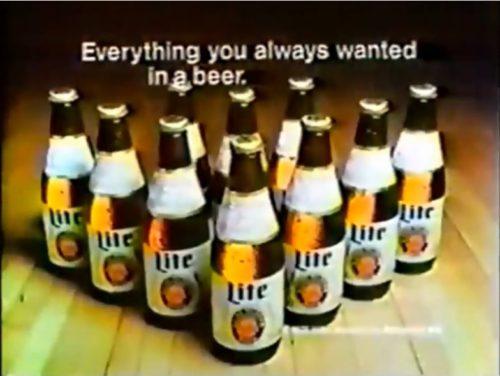 Set 'em up, Knock 'em back. (Miller beer commercial, 1978)