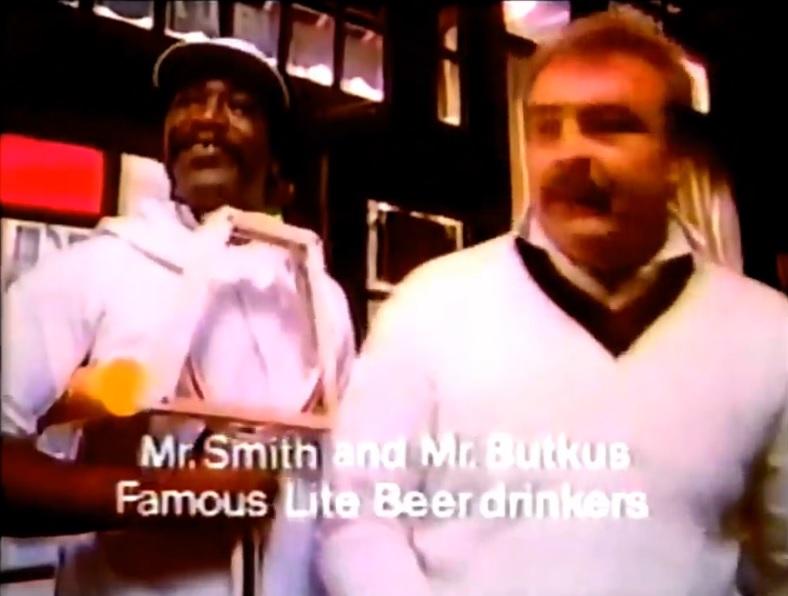 Daily 70s spot 524 525 miller lite michelob light 1979 bubba smith dick butkus for miller lite 1979 aloadofball Gallery