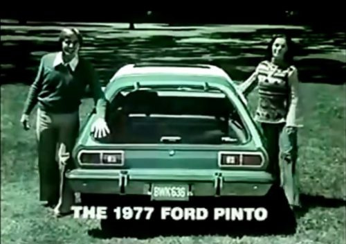 Check out that optional glass hatch back! (Ford Pinto commercial, 1976)