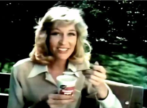 I'm getting a kind of grown-up Cindy Brady vibe here. (Breyers commercial, 1978)