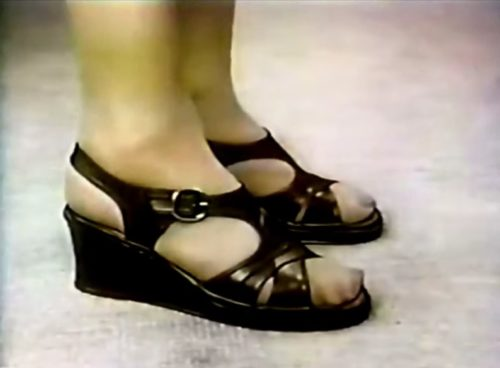 'How many pairs of shoes do you own?' (Cobbie Cuddlers commercial, 1979)