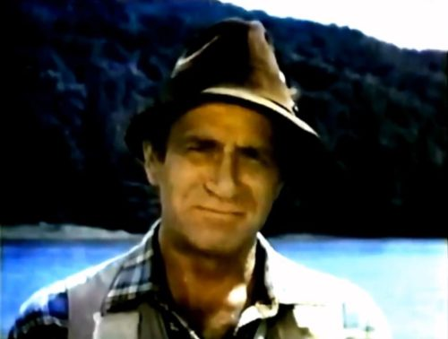 Darren McGavin enjoys a camp-out and a few beers before taking on the role of 'Kolchak: The Night Stalker.'