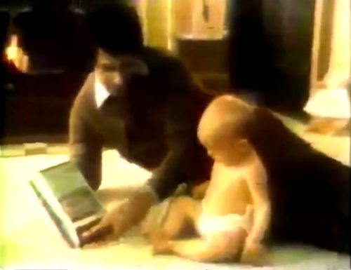 The cassette tape recorder for infants. (Panasonic commercial, 1977)