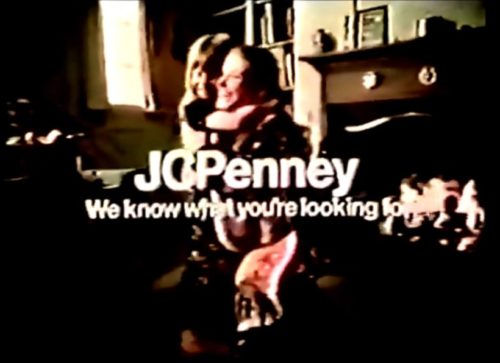 The holidays are approaching. Time to dress up like a 1900s granny. (JCPenney commercial, 1972)